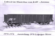 Modell eines Eisenbahnwaggons