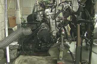 Honda CBR 1000-Motor auf dem Motorenprüfstand