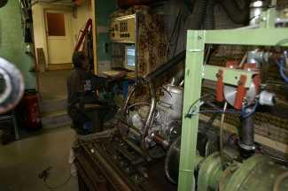 Zabel-Motor auf dem Motorenprüfstand