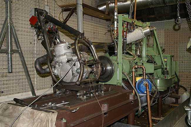 Motorenleistungsprüfstand mit Wasserwirbelbremse